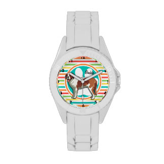 Saint Bernard Bright Rainbow Stripes Watches