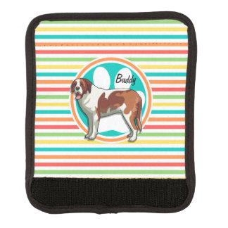 Saint Bernard Bright Rainbow Stripes Luggage Handle Wrap