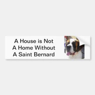 Saint Bernard Bumper Sticker Car Bumper Sticker