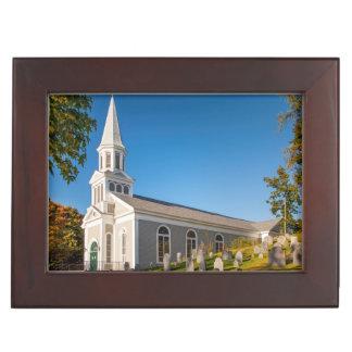 Saint Bernard Catholic Church With Old Hill Keepsake Box