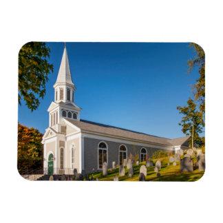 Saint Bernard Catholic Church With Old Hill Rectangular Photo Magnet
