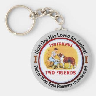 Saint Bernard Dog and Pet Lovers Key Ring