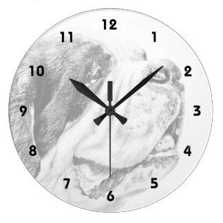 Saint Bernard dog art Clocks