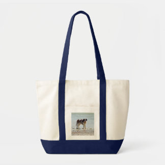 Saint Bernard dog at the beach tote bag, gift idea Impulse Tote Bag
