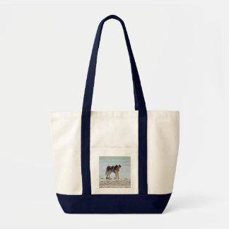 Saint Bernard dog at the beach tote bag, gift idea Impulse Tote Bag