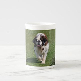 Saint Bernard dog beautiful photo bone china mug