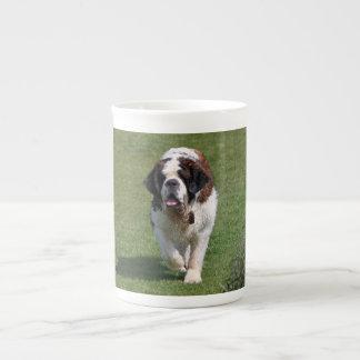 Saint Bernard dog beautiful photo bone china mug