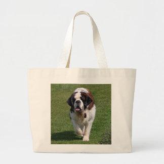 Saint Bernard dog beautiful photo tote bag