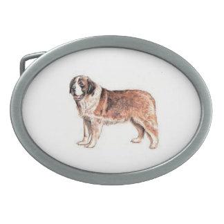 Saint Bernard Dog Belt Buckle
