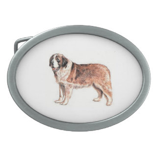 Saint Bernard Dog Belt Buckle