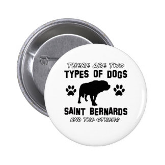 Saint Bernard dog breed designs Pin
