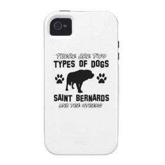 Saint Bernard dog breed designs iPhone 4/4S Covers