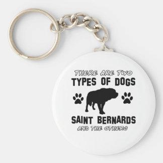 Saint Bernard dog breed designs Key Chains