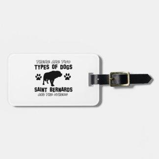 Saint Bernard dog breed designs Tag For Luggage