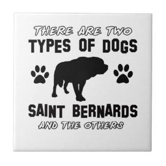 Saint Bernard dog breed designs Tile