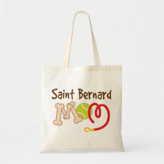 Saint Bernard Dog Breed Mom Gift Budget Tote Bag