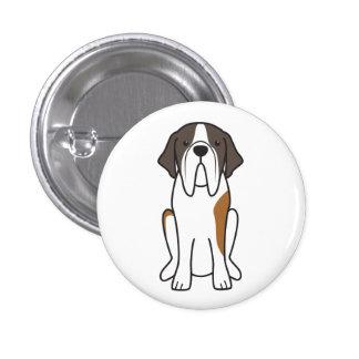 Saint Bernard Dog Cartoon Pin