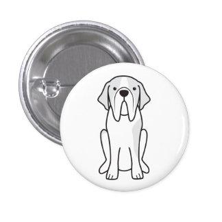 Saint Bernard Dog Cartoon Pinback Buttons