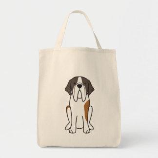 Saint Bernard Dog Cartoon Canvas Bags
