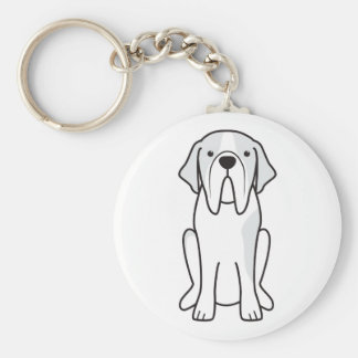 Saint Bernard Dog Cartoon Key Chain