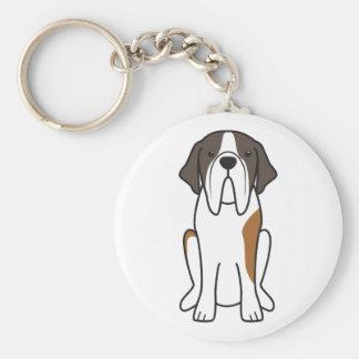 Saint Bernard Dog Cartoon Keychain