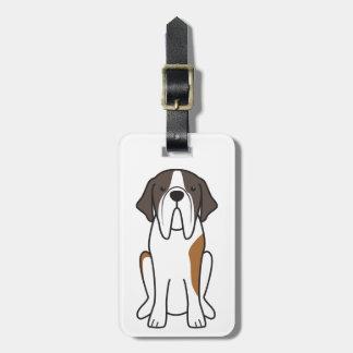 Saint Bernard Dog Cartoon Tags For Bags