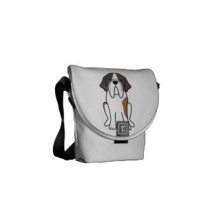 Saint Bernard Dog Cartoon Courier Bags