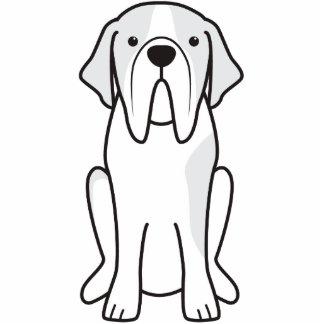 Saint Bernard Dog Cartoon Standing Photo Sculpture