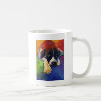 Saint Bernard Dog gift art painting printed Coffee Mug