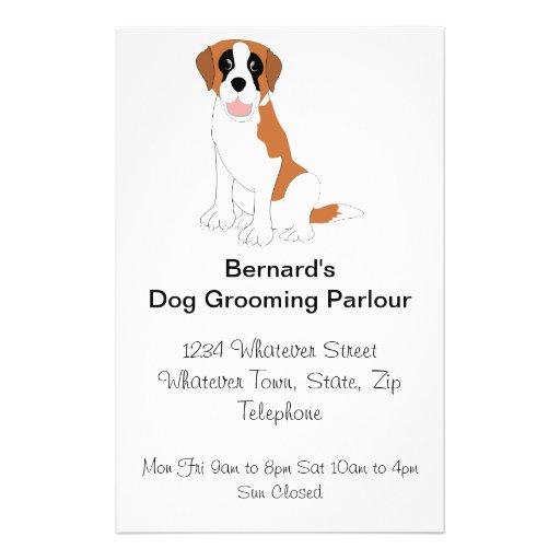 Saint Bernard Dog Grooming Parlour Full Color Flyer