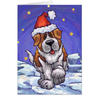 Saint Bernard Dog Holiday Card