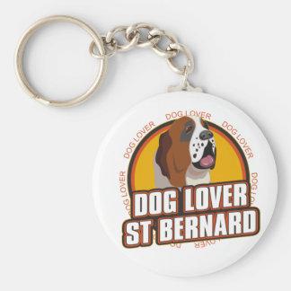 Saint Bernard Dog Lover Keychain