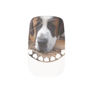 Saint Bernard Dog Minx ® Nail Art
