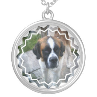 Saint Bernard Dog Necklace