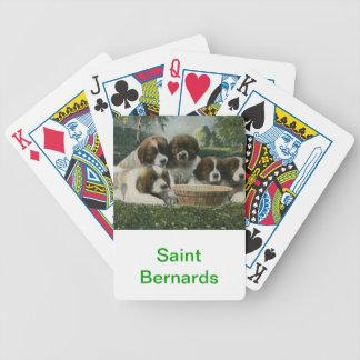 Saint Bernard Dog Playing Cards