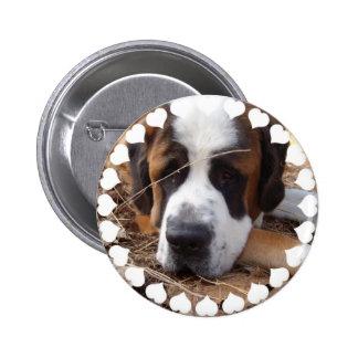 Saint Bernard Dog Round Button