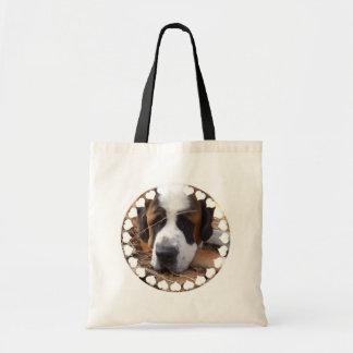 Saint Bernard Dog Small Canvas Bag