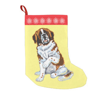 saint bernard dog small christmas stocking