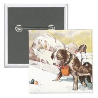 Saint Bernard Dog to the Rescue Pin