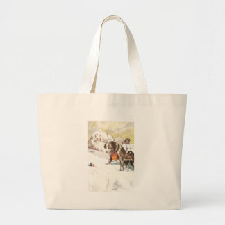 Saint Bernard Dog to the Rescue Jumbo Tote Bag
