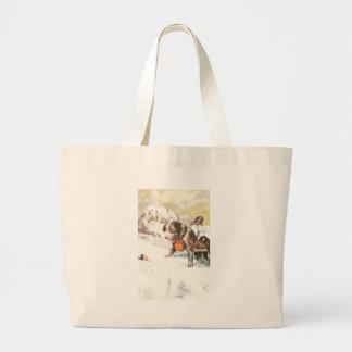 Saint Bernard Dog to the Rescue Jumbo Tote Bag