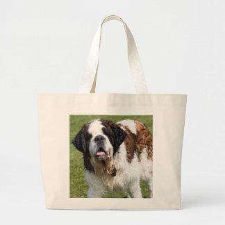 Saint Bernard dog tote bag, gift idea
