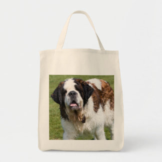 Saint Bernard dog tote bag, gift idea Grocery Tote Bag