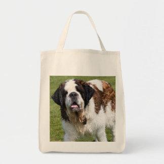 Saint Bernard dog tote bag, gift idea Grocery Tote Bag