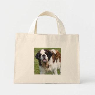Saint Bernard dog tote bag, gift idea Mini Tote Bag