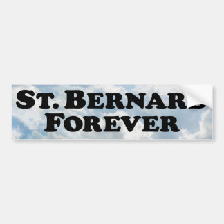 Saint Bernard Forever - Basic Bumper Sticker