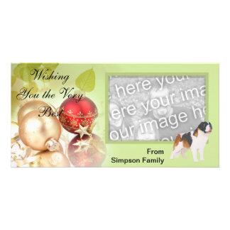 Saint Bernard ~ Green Leaves Design Photo Card