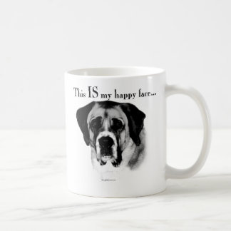 Saint Bernard Happy Face Coffee Mug