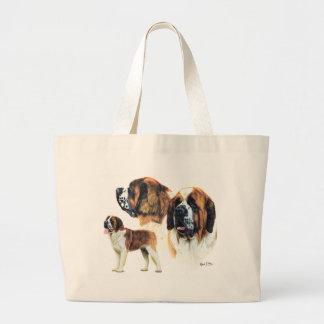 Saint Bernard Large Tote Bag