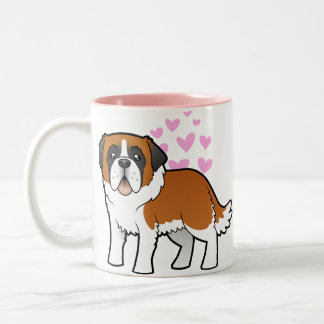 Saint Bernard Love Two-Tone Coffee Mug